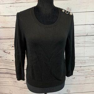 White House Black Market 3/4 Sleeve Sweater M